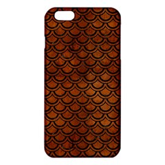 Scales2 Black Marble & Brown Burl Wood (r) Iphone 6 Plus/6s Plus Tpu Case