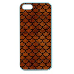 Scales1 Black Marble & Brown Burl Wood (r) Apple Seamless Iphone 5 Case (color)