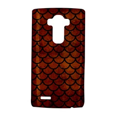 Scales1 Black Marble & Brown Burl Wood (r) Lg G4 Hardshell Case