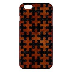 Puzzle1 Black Marble & Brown Burl Wood Iphone 6 Plus/6s Plus Tpu Case