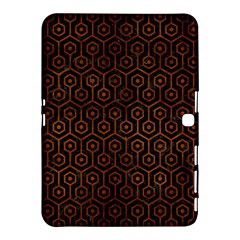 Hexagon1 Black Marble & Brown Burl Wood Samsung Galaxy Tab 4 (10 1 ) Hardshell Case