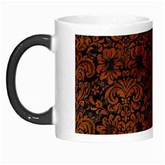 Damask2 Black Marble & Brown Burl Wood Morph Mug