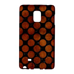 Circles2 Black Marble & Brown Burl Wood Samsung Galaxy Note Edge Hardshell Case