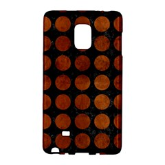 Circles1 Black Marble & Brown Burl Wood Samsung Galaxy Note Edge Hardshell Case