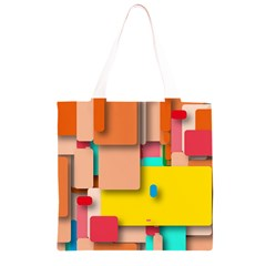Rounded Rectangles Grocery Light Tote Bag