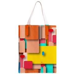 Rounded Rectangles Classic Light Tote Bag
