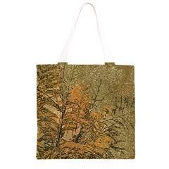 Floral Grunge Grocery Light Tote Bag
