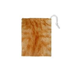 Orange Fur 2 Drawstring Pouches (XS)