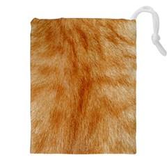 Orange Fur 2 Drawstring Pouches (XXL)