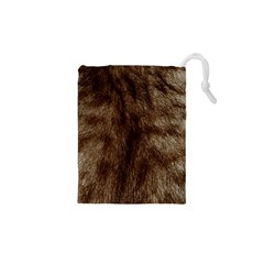 Silber Tiger Fur Drawstring Pouches (XS)