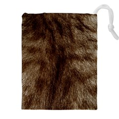 Silber Tiger Fur Drawstring Pouches (XXL)