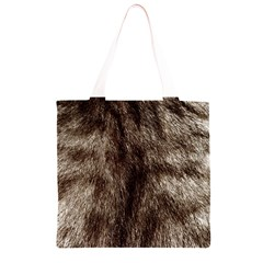 Black and White Silver Tiger Fur Grocery Light Tote Bag