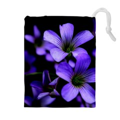 Springtime Flower Design Drawstring Pouches (Extra Large)