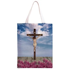 Jesus On The Cross Illustration Classic Light Tote Bag
