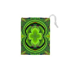 Green Clover Drawstring Pouches (xs)