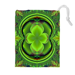 Green Clover Drawstring Pouches (Extra Large)