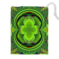 Green Clover Drawstring Pouches (xxl)