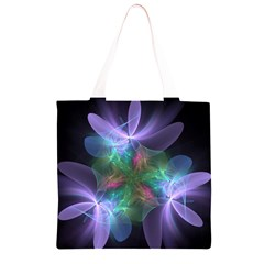 Ethereal Flowers Grocery Light Tote Bag