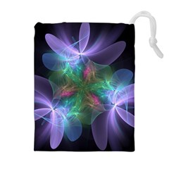 Ethereal Flowers Drawstring Pouches (Extra Large)