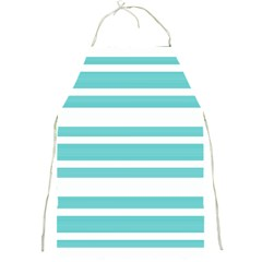 Teal Adn White Stripe Designs Full Print Aprons