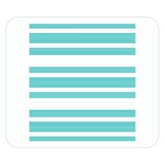 Teal Adn White Stripe Designs Double Sided Flano Blanket (small)