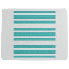 Teal adn White Stripe Designs Jigsaw Puzzle Photo Stand (Rectangular)