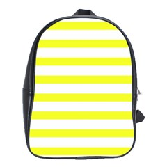Bright Yellow And White Stripes School Bags(large)
