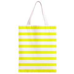 Bright Yellow and White Stripes Classic Light Tote Bag