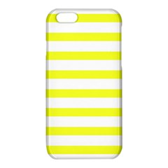 Bright Yellow and White Stripes iPhone 6/6S TPU Case