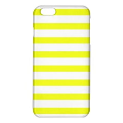 Bright Yellow and White Stripes iPhone 6 Plus/6S Plus TPU Case