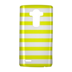 Bright Yellow and White Stripes LG G4 Hardshell Case