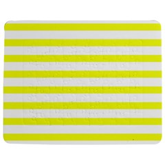 Bright Yellow And White Stripes Jigsaw Puzzle Photo Stand (rectangular)