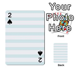 Baby Blue And White Stripes Playing Cards 54 Designs