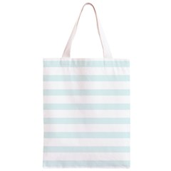 Baby Blue and White Stripes Classic Light Tote Bag