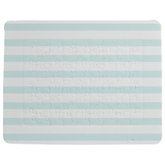 Baby Blue And White Stripes Jigsaw Puzzle Photo Stand (rectangular)