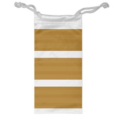Beige/ Brown And White Stripes Design Jewelry Bags