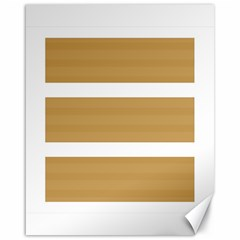Beige/ Brown And White Stripes Design Canvas 16  X 20