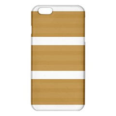 Beige/ Brown and White Stripes Design iPhone 6 Plus/6S Plus TPU Case