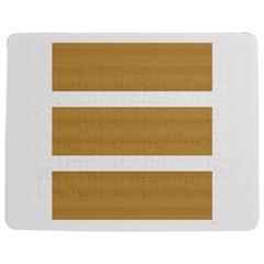 Beige/ Brown And White Stripes Design Jigsaw Puzzle Photo Stand (rectangular)