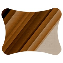 Metallic Brown/Neige Stripes Jigsaw Puzzle Photo Stand (Bow)