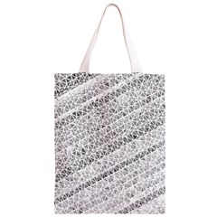 Silver abstract and Stripes Classic Light Tote Bag