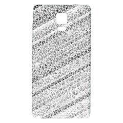Silver Abstract And Stripes Galaxy Note 4 Back Case