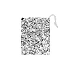 Silver Abstract Design Drawstring Pouches (XS)