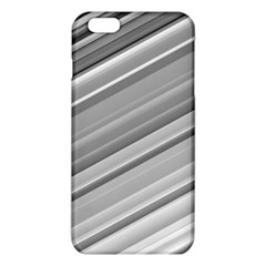 Elegant Silver Metallic Stripe Design iPhone 6 Plus/6S Plus TPU Case