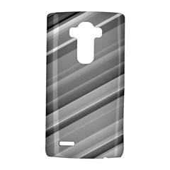 Elegant Silver Metallic Stripe Design LG G4 Hardshell Case