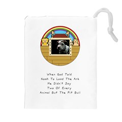 But The Pit Bull Drawstring Pouches (Extra Large)