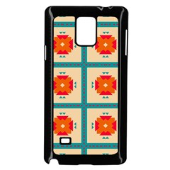 Shapes In Squares Pattern samsung Galaxy Note 4 Case (black)