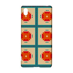Shapes in squares pattern Sony Xperia Z3+ Hardshell Case