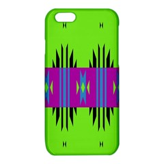 Tribal shapes on a green background iPhone 6/6S TPU Case