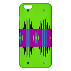 Tribal shapes on a green background 			iPhone 6 Plus/6S Plus TPU Case